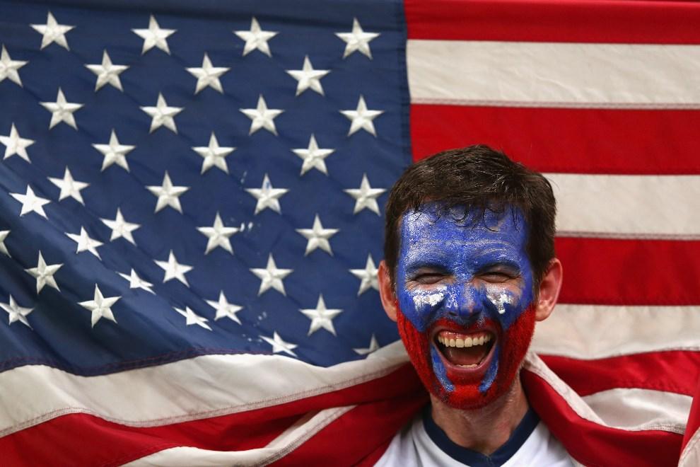 29.BRAZYLIA , Manaus, 22 czerwca 2014: Amerykański kibic podczas meczu USA – Portugalia. (Foto: Warren Little/Getty Images)