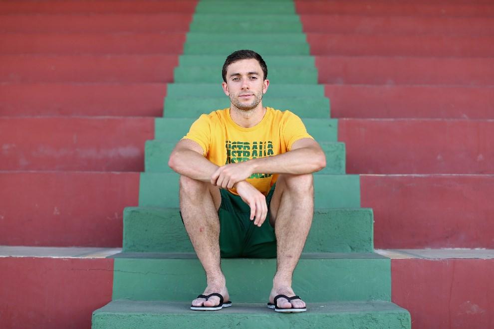 35.BRAZYLIA, Vitoria, 9 czerwca 2014: Tommy Oar (Australia) podczas konferencji prasowej. (Foto: Cameron Spencer/Getty Images)