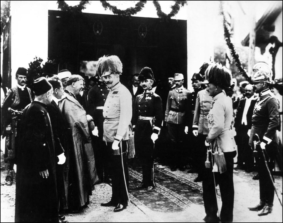 3.JUGOSŁAWIA, Sarajewo, 28 czerwca 1914: Arcyksiążę Ferdynand na chwilę przed zabójstwem. AFP