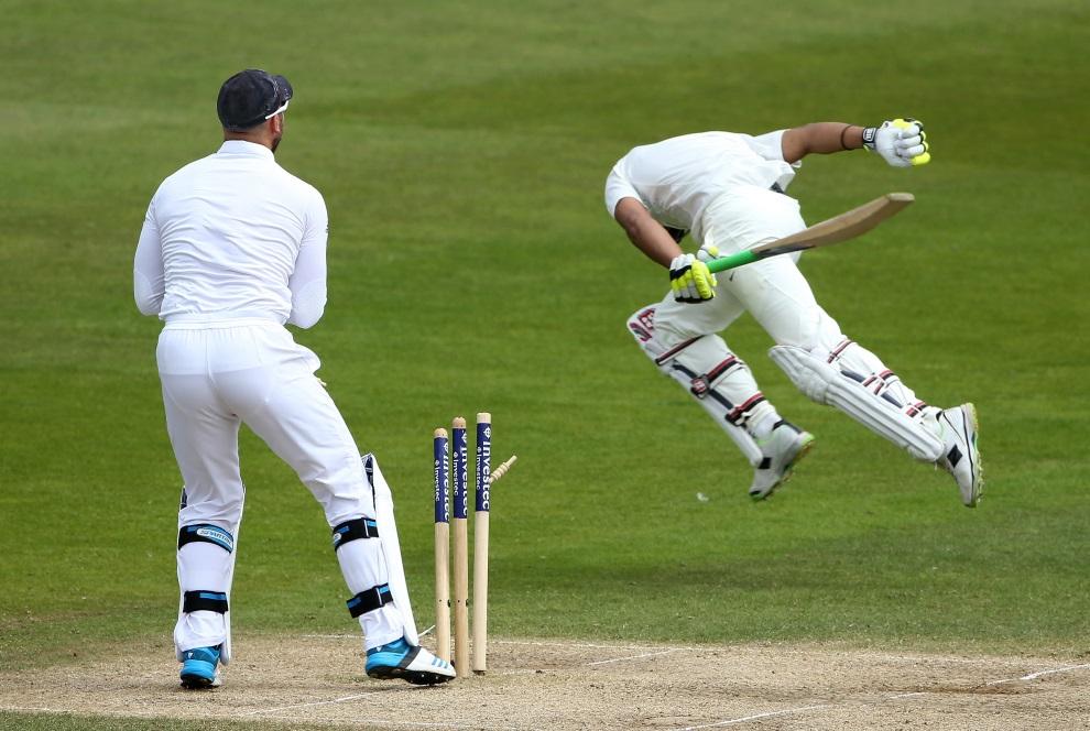 24.WIELKA BRYTANIA, Nottingham, 13 lipca 2014: Mecz krykeita pomiędzy zespołami z Indii i Anglii. AFP PHOTO / ANDREW YATES