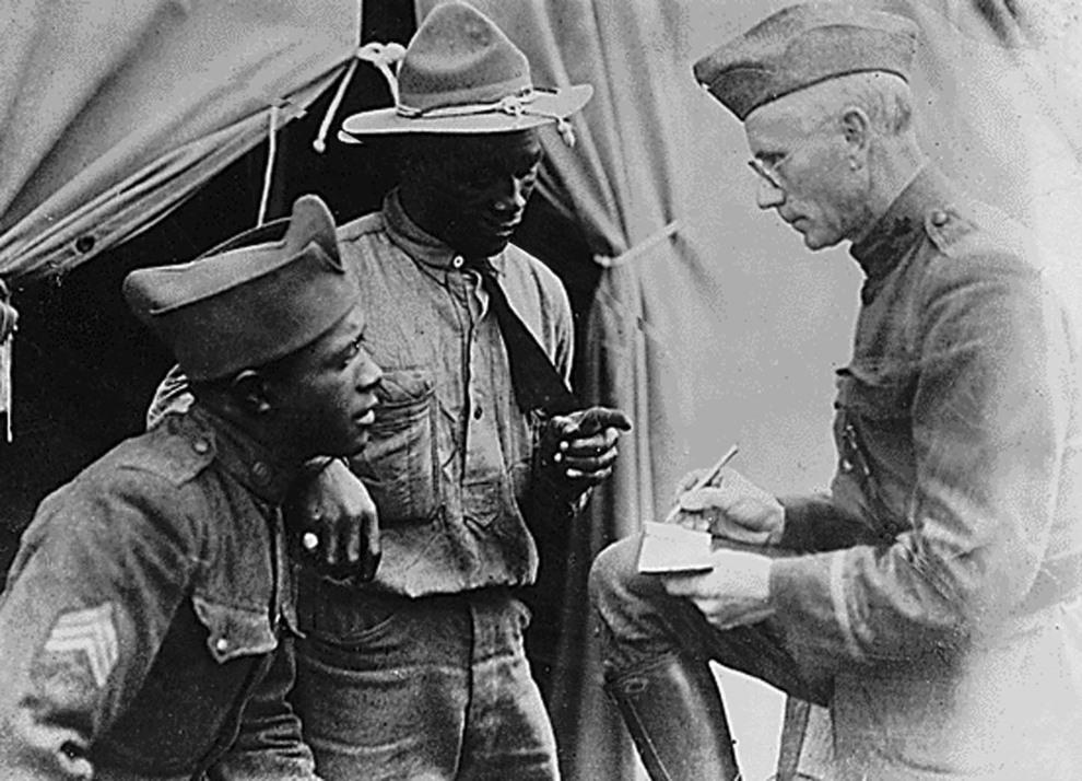 7.USA, Waszyngton, wrzesień 1918: Amerykańscy żołnierze w szpitalu polowym. AFP PHOTO/HO