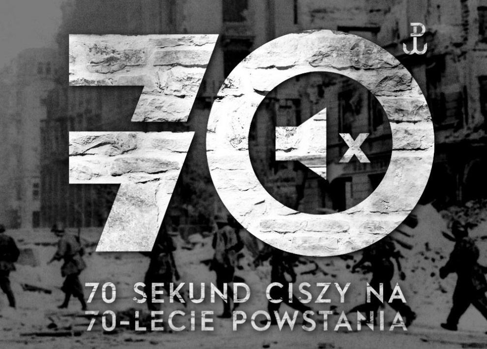 30.70 sekund ciszy na 70-lecie Powstania Warszawskiego /materiały prasowe