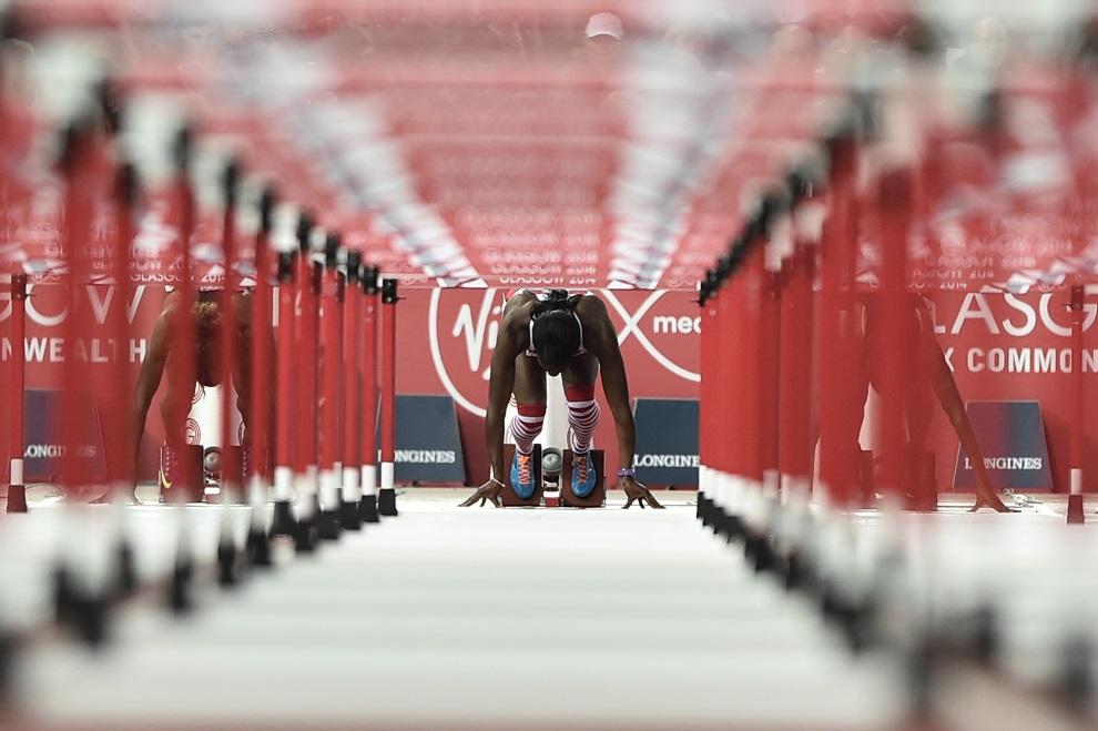 4.WIELKA BRYTANIA, Glasgow, 31 lipca 2014: Serita Solomon podczas występu na Igrzyskach Wspólnoty Brytyjskiej. AFP PHOTO / ANDREJ ISAKOVIC