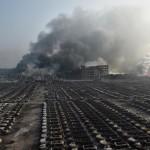 Potężny wybuch w Tiencin
