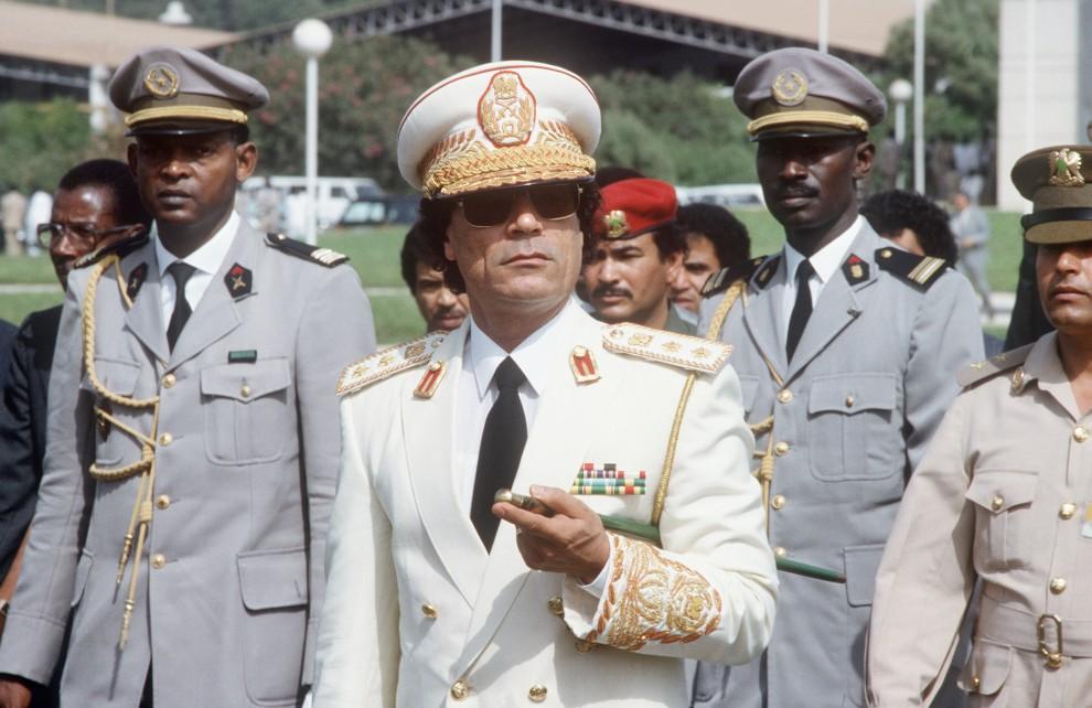 5. SENEGAL, Dakar, 3 grudnia 1985: Muammar al-Kaddafi w trakcie oficjalnej wizyty w Senegalu. AFP